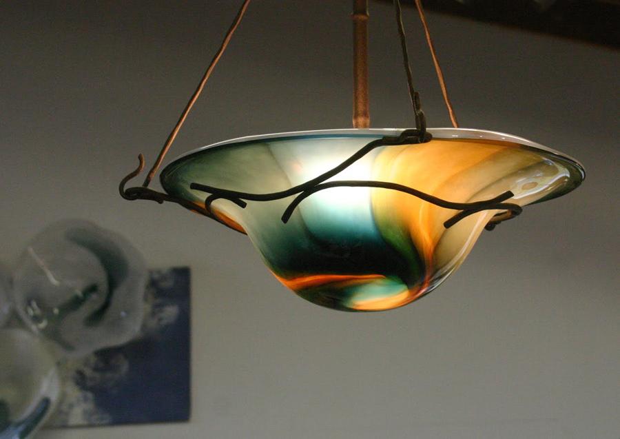 Nicholson Blown Glass Chandeliers Sconces