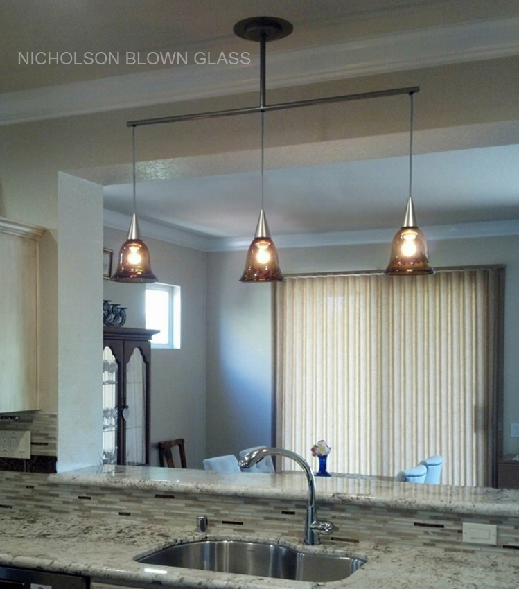 Pendants Transpa Bell Private Residence Kitchen P Through Dark Topaz With Dichroic 8 H